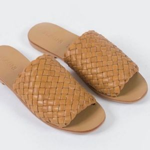 St. Agni leather woven sandals
